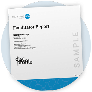 Everything DiSC Facilitator Report cover