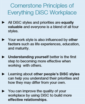 Everything DiSC Workplace Cornerstone Principles