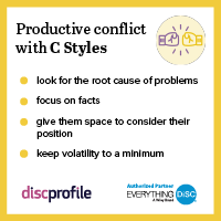 Productive conflict with a C
