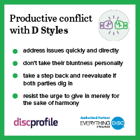 Productive conflict with a D