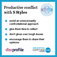 Productive conflict with a S