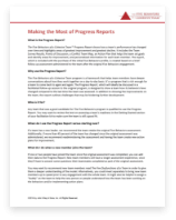 Making the Most of Five Behaviors Progress Reports